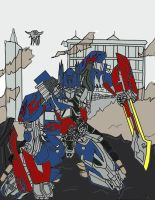 Transformers Dark Of The Moon Optimus Prime by GamerZzon