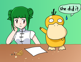 Psyduck Denies by CrystalClair