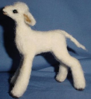 Little Lamb Wooliture sideview by RoseThistleArtworks