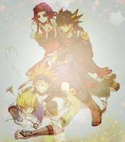 Yugioh 5Ds Gang by MissDino13a