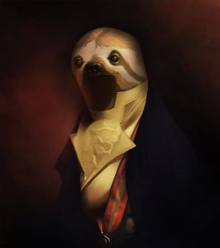 Fancy Animal: Sloth by timtomwho