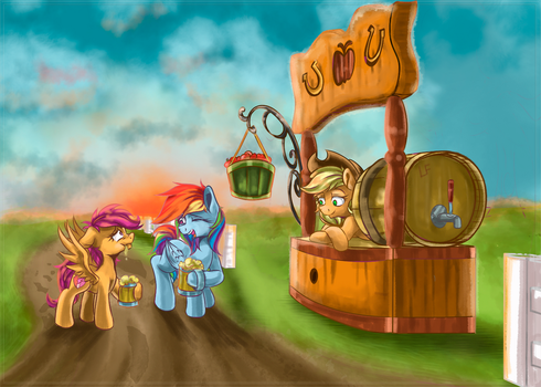 Cider for the very first time[Request] by RedheadFly