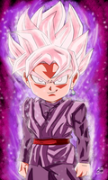 CHIBI GOKU BLACK SUPER SAIYAN ROSE by dgrayrain