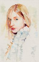 Study in watercolours for painting Lilia by SILENTJUSTICE