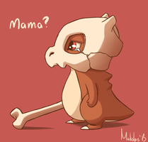 Baby Cubone by garrchomped