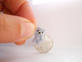 OOAK micro miniature jointed natural stone bear by tweebears