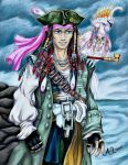 DMMD - Pirate!AU - Captain Mink Bara by LadyJuxtaposition