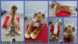 Large Bengal Tiger 24in by Vesperwolfy87