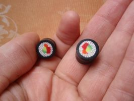 ready to ship sushi plugs by lady-demeter