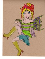 Fairy - With Peacock Colors by mitchjecon