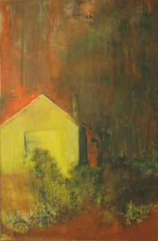 A Yellow Shed by StaviArt