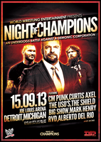 WWE NIGHT of CHAMPIONS (un-official poster) by TheIronSkull