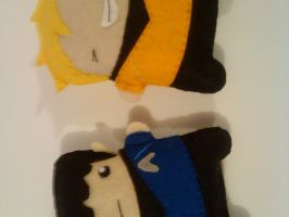 Spock and Kirk plushies by cubosabio