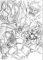 Mazinger in the End of Evangelion. by BlueStrikerBomber