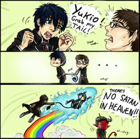 Grab my meme - Rin and Yukio by joselingering