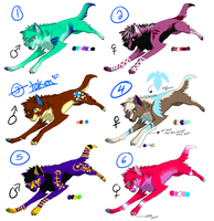Adoptables SET 1 -SOLD- by Queen-Heaven