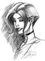 Sketchy Girl by imagesbyalex
