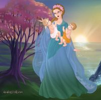 Leto and her Twins by LadyIlona1984