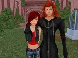 MMD KH OC: Axel and his Little Sister by Smirkaotic
