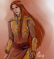 Maedhros Doodle by MellorianJ