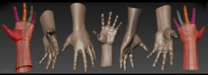 hands practice by emaciate