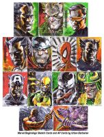 Marvel Beginnings Sketch Cards by urban-barbarian