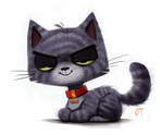Day 561. Really busy. Here's a kitty by Cryptid-Creations
