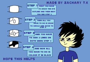 How to Draw Anime Eyes. by zack-pack