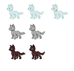 FREE chibi wolf bases by VexiWolf