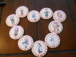 Harvest Moon: Animal Parade Bachelor Button Set by sorumeshe-cosplay