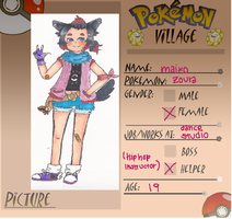 Poke-Village App:Maiko by thestrawberrybandit