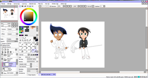 Daryl and Tony Chibi WIP by ArtAwakeLight445
