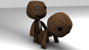 Sackboy gets some lovin. by theaaronp