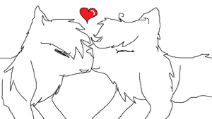 Kitty love Lineart by Smokestar11