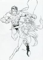 Superman and Supergirl by juanjosilva