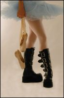 a ballerinas boots by silently--screaming