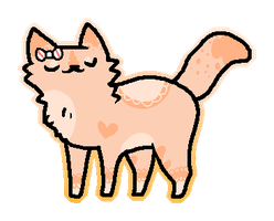 Candy Cane Cat Adopt!! 35 Points! -CLOSED- by Pet-WorId