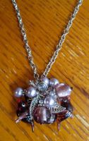 Purple Cluster Necklace by TernFeather