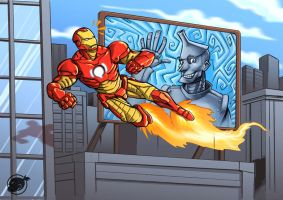 iron man and iron man by estivador