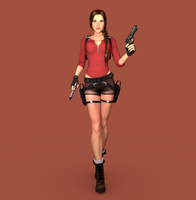 Lara Croft in Cycles 03 by trazuzen