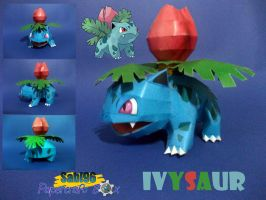 Ivysaur Papercraft by Sabi996