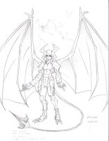 Winged Demon in armor by suldae