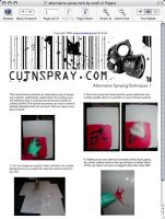 Alt Spray Stencil Tutorial by exell