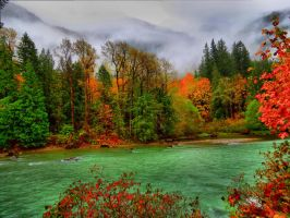 Autumn on the Skagit River by Glacierman54