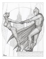 Catwoman and Batman - 2 by GOODGIRLART