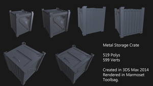 Metal Storage Crate by Rubber-Rainbows