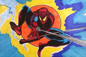 Spider-man explosion by DustyPaintbrush