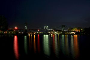 Bridges at night by JoergJohannMueller