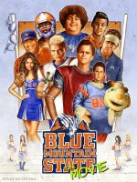 Blue Mountain State movie poster by kevmcgivernart