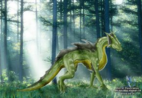 Green forest dragon by Dragonniar